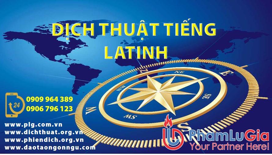 dịch tiếng latinh sang tiếng việt